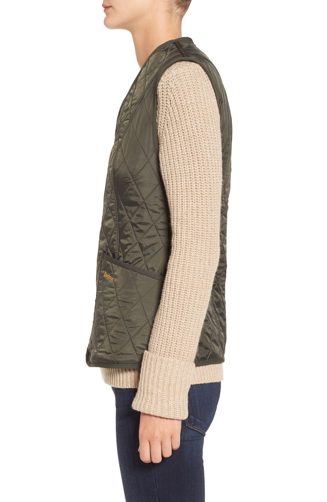 Alternate Image 3  - Barbour 'Betty' Fleece Lined Quilted Liner
