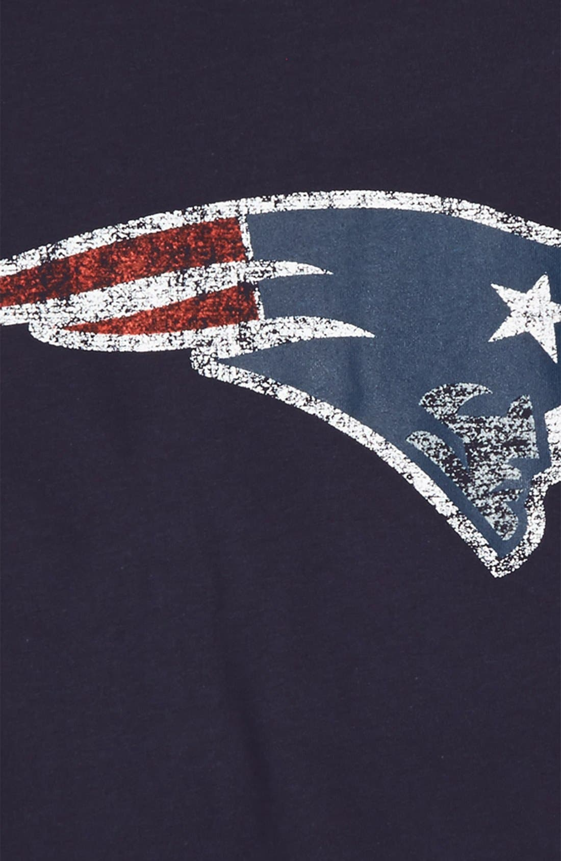 Alternate Image 2  - Outerstuff 'NFL - New England Patriots' Distressed Logo Graphic T-Shirt (Big Boys)