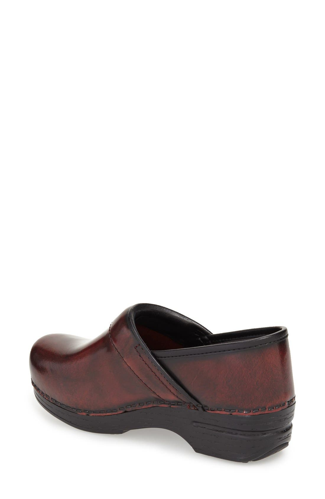 'Pro XP' Patent Leather Clog,                             Alternate thumbnail 2, color,                             Burgundy Cabrio Patent Leather