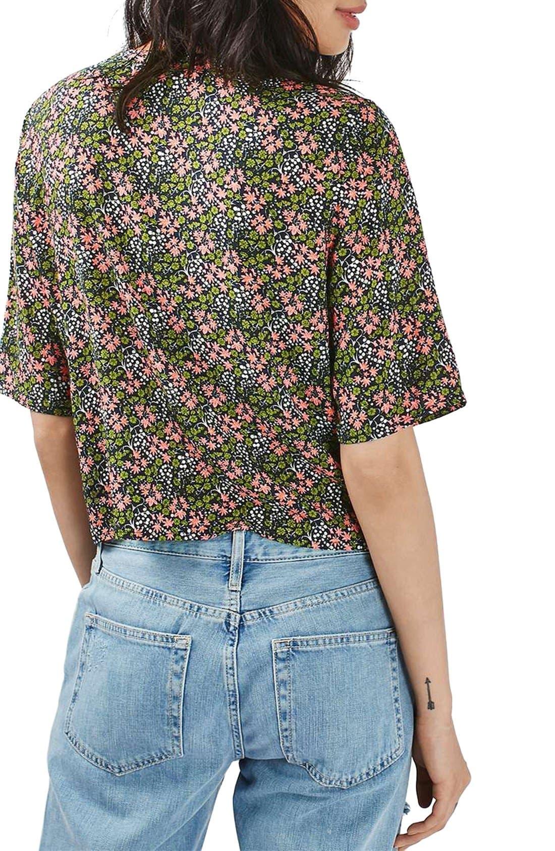 Alternate Image 3  - Topshop 'Holly' Ditsy Floral Print Shirt