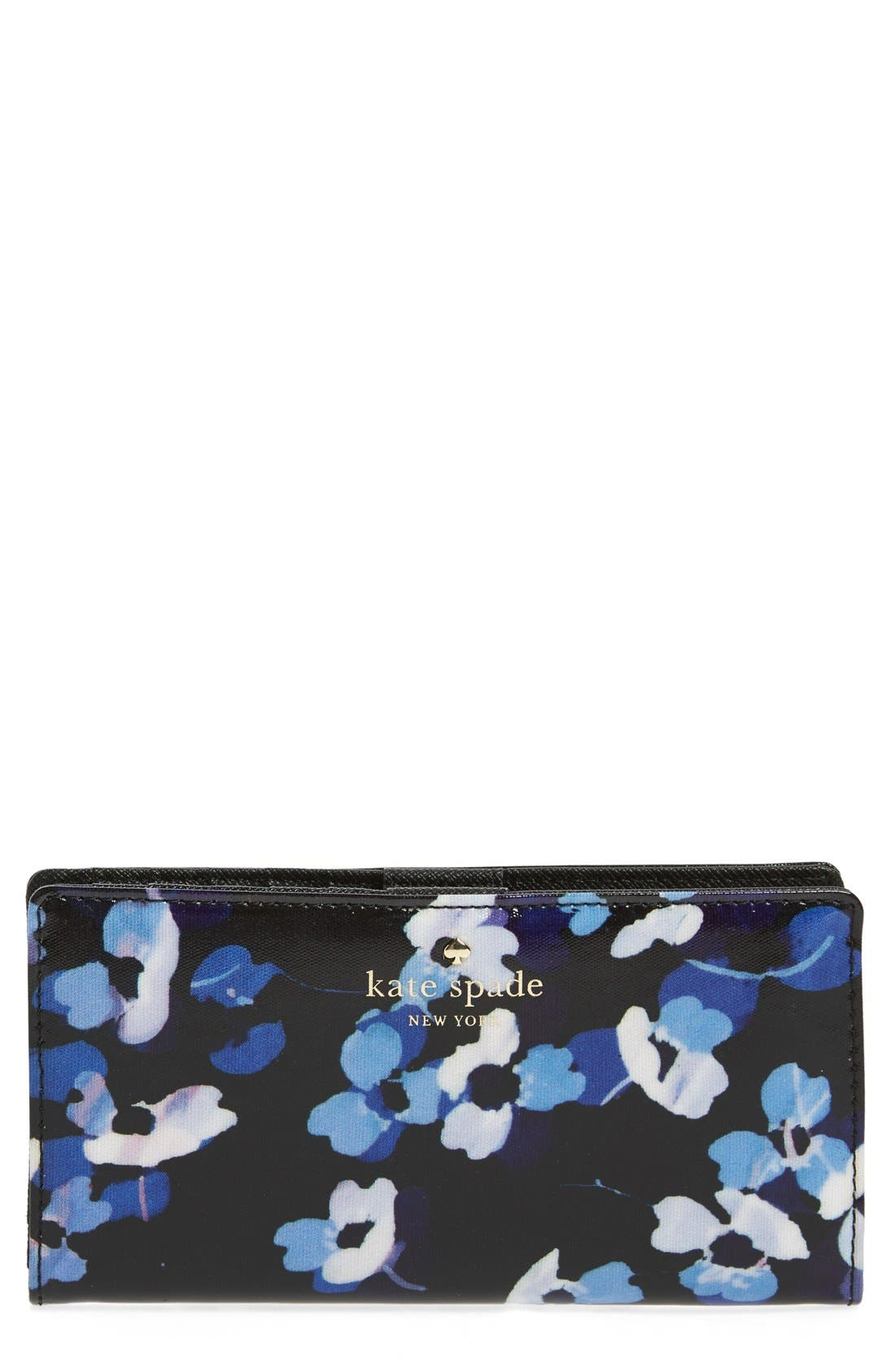 Main Image - kate spade new york 'cedar street - floral stacy' coated canvas wallet