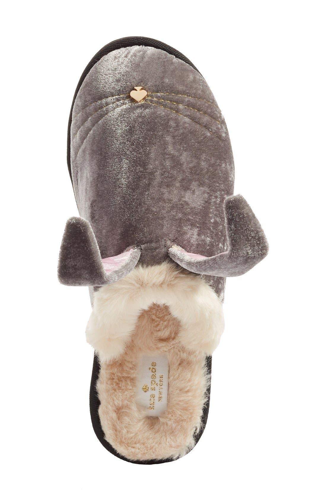 Alternate Image 3  - kate spade new york 'bonnie - bunny' velvet slipper (Women)