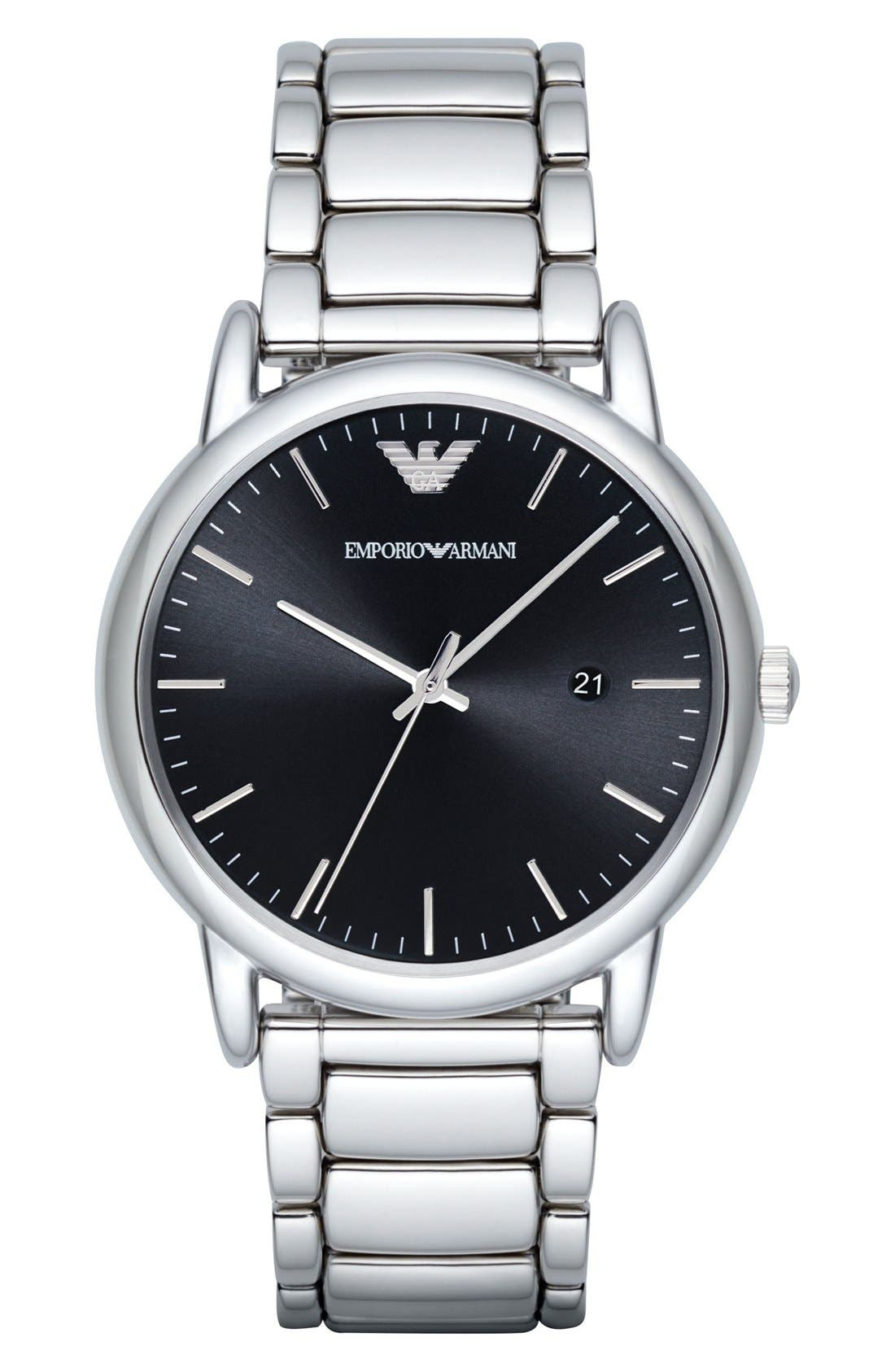 Alternate Image 1 Selected - Emporio Armani Bracelet Watch, 43mm