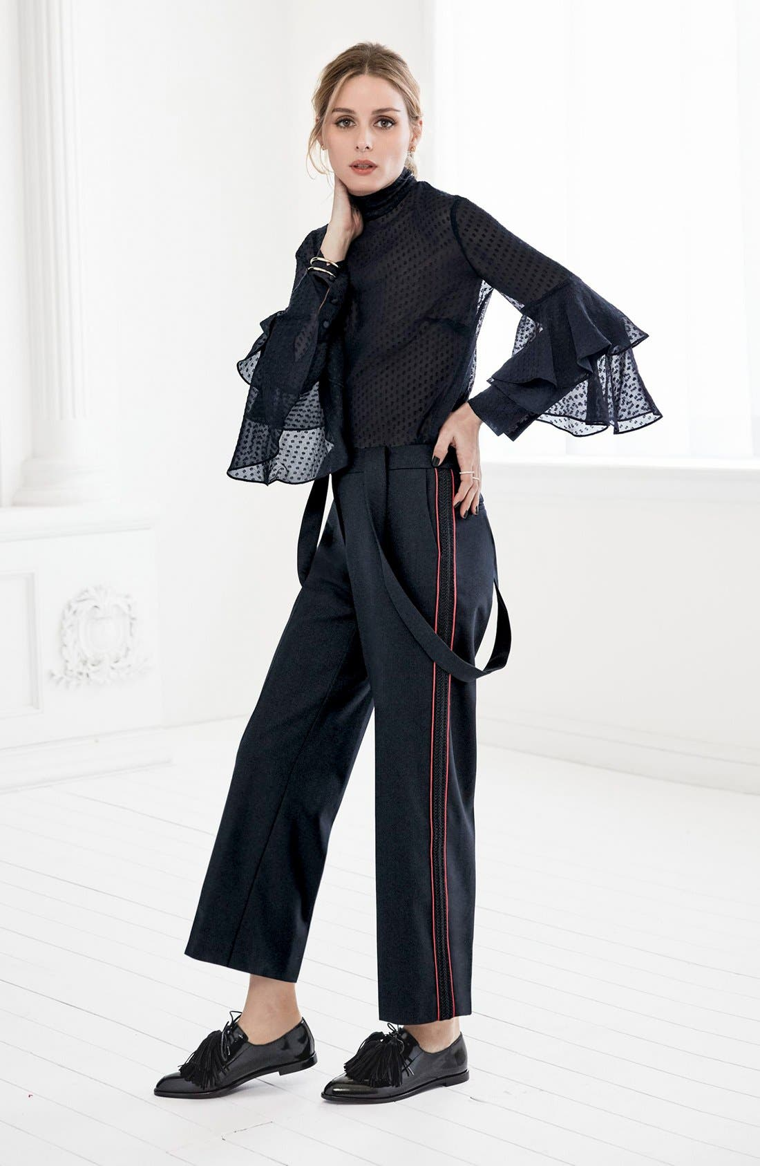 Alternate Image 2  - Olivia Palermo + Chelsea28 High Rise Crop Suspender Pants