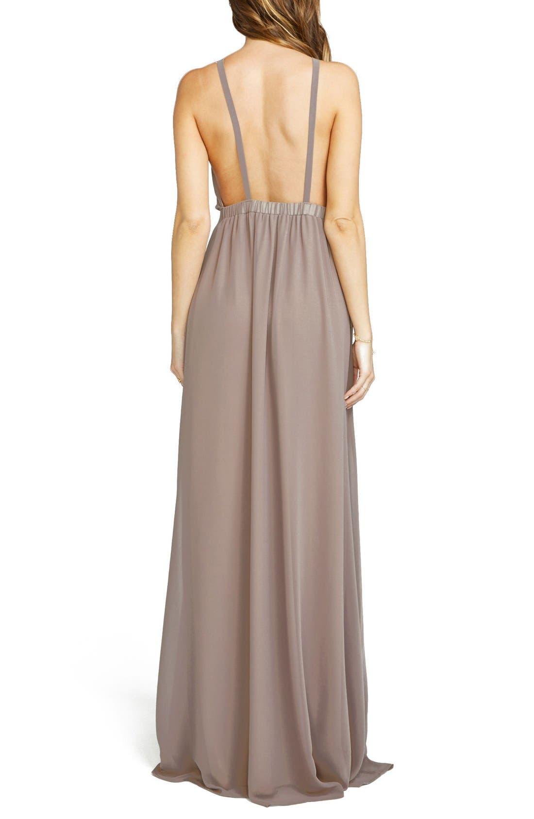 Alternate Image 2  - Show Me Your Mumu Amanda Open Back Blouson Gown