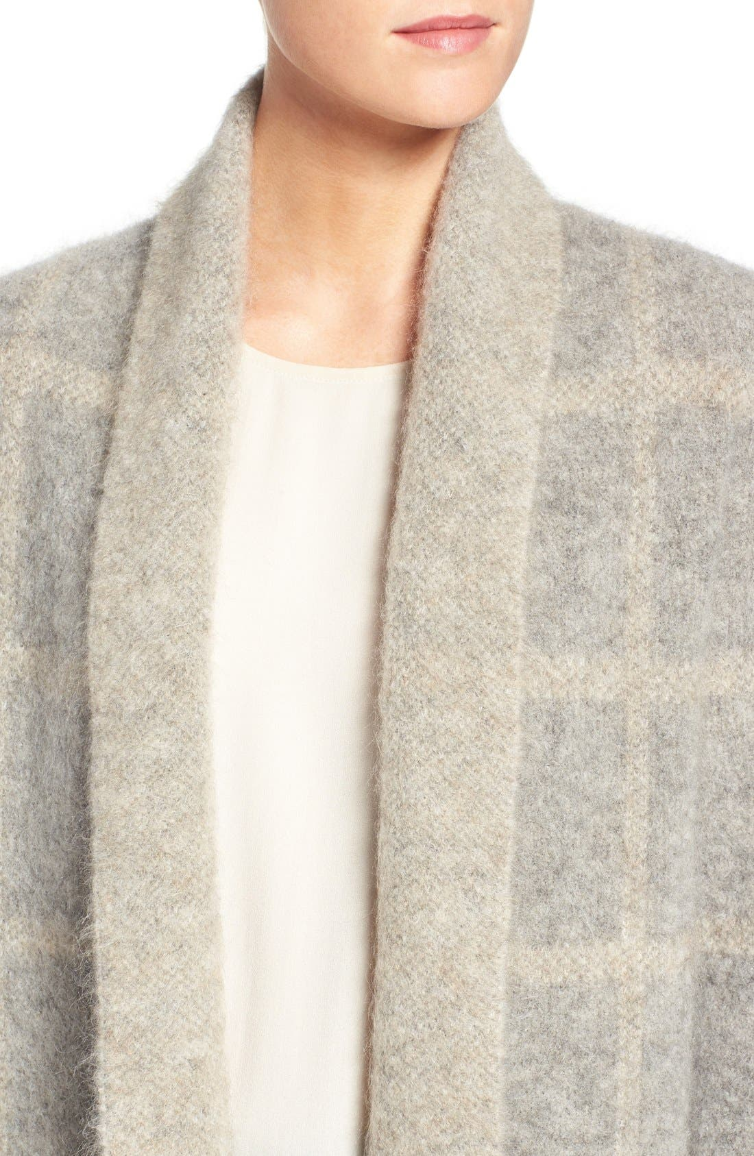 Alternate Image 4  - Eileen Fisher Plush Open Front Long Cardigan