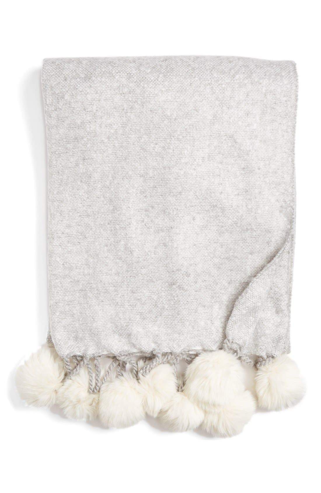 Alternate Image 1 Selected - Nordstrom at Home Faux Fur Throw