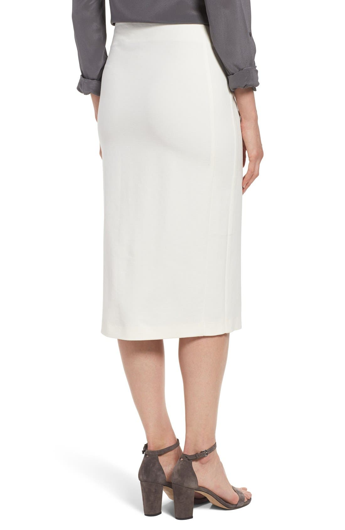 Alternate Image 3  - Vince Camuto Ponte Midi Skirt (Regular & Petite)