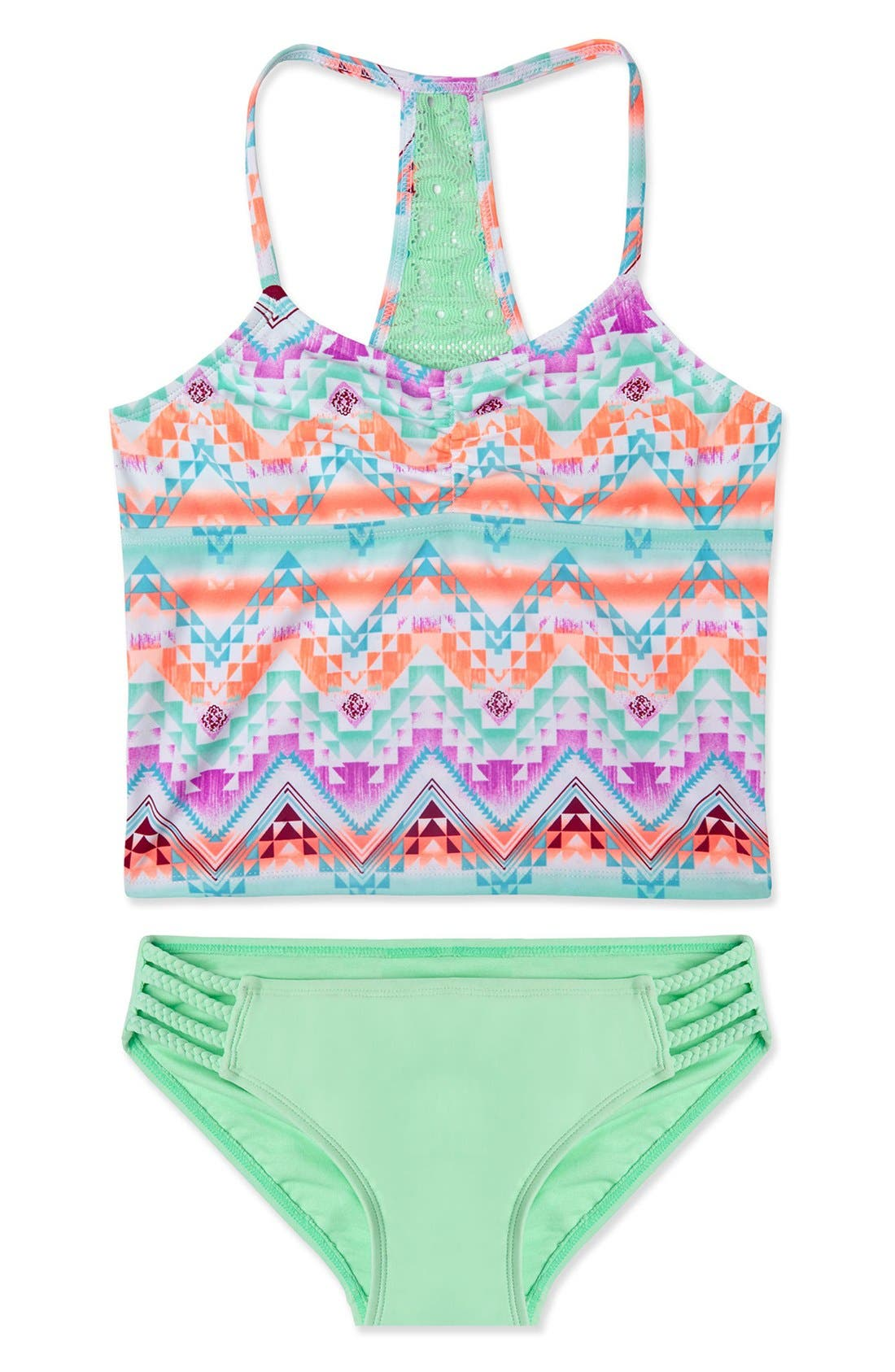 Main Image - Gossip Girl 'Desert Mirage' Two-Piece Swimsuit Set (Big Girls)