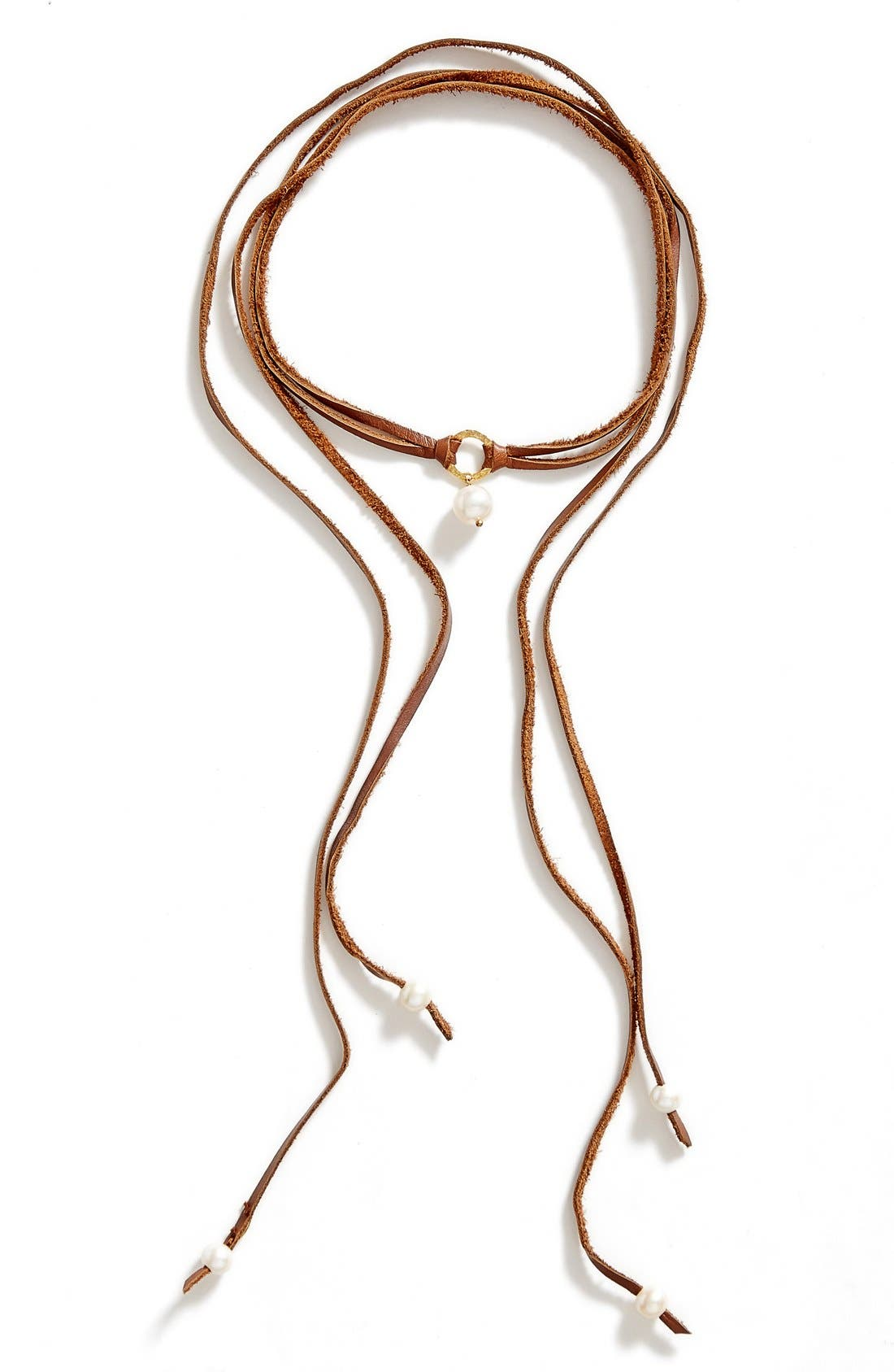 Alternate Image 2  - Chan Luu Pearl & Leather Wrap Necklace