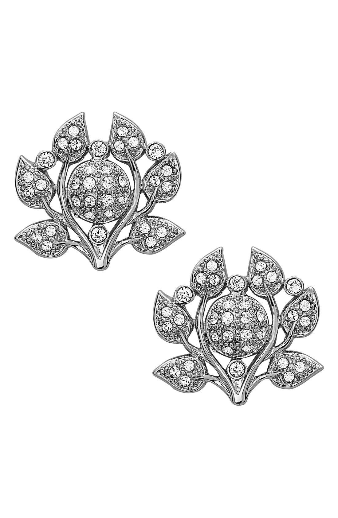 Atonia Crystal Stud Earrings,                             Main thumbnail 1, color,