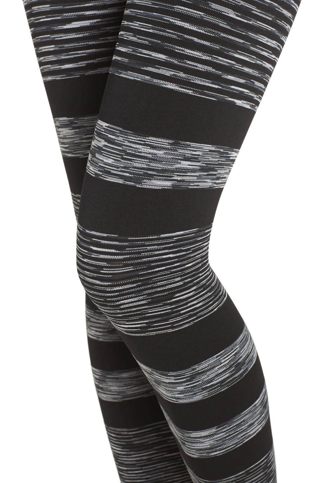 'Raise the Bar' High Waist Seamless Leggings,                             Alternate thumbnail 4, color,                             Black/ Litho