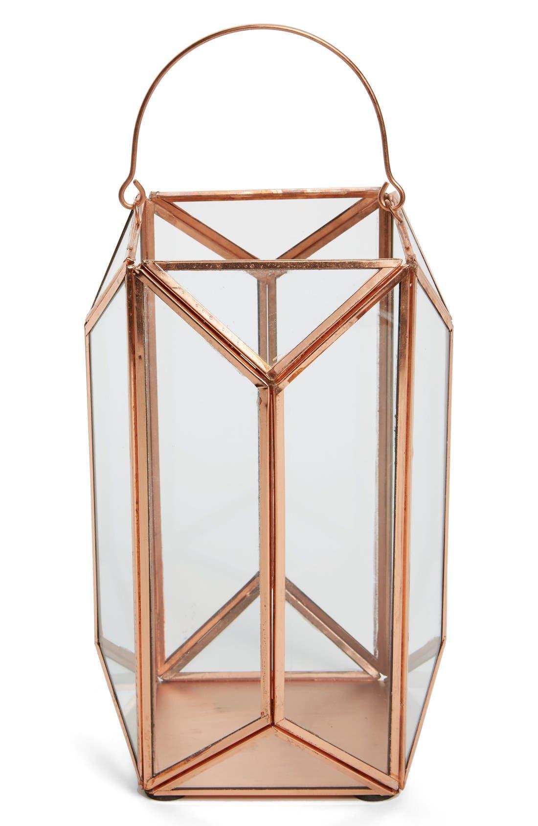 Alternate Image 2  - Shiraleah 'Scala' Copper & Glass Lantern