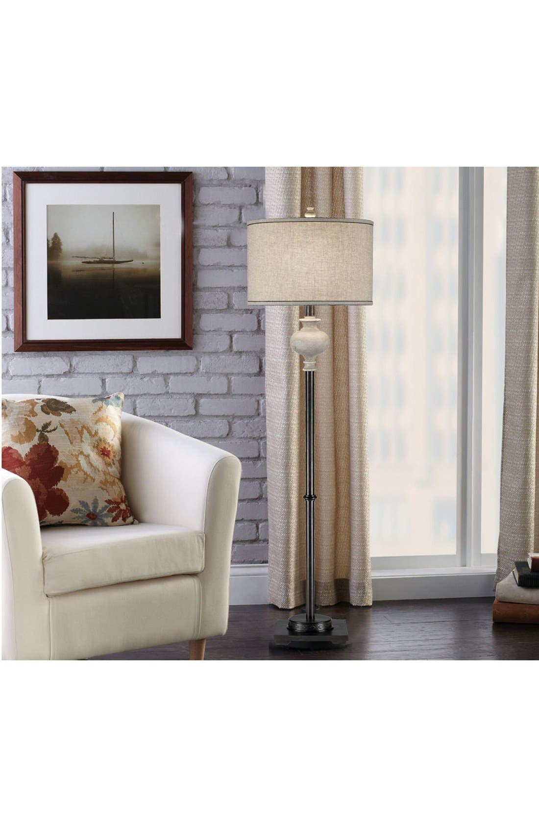 Alternate Image 2  - JAlexander Whitewash & Bronze Floor Lamp