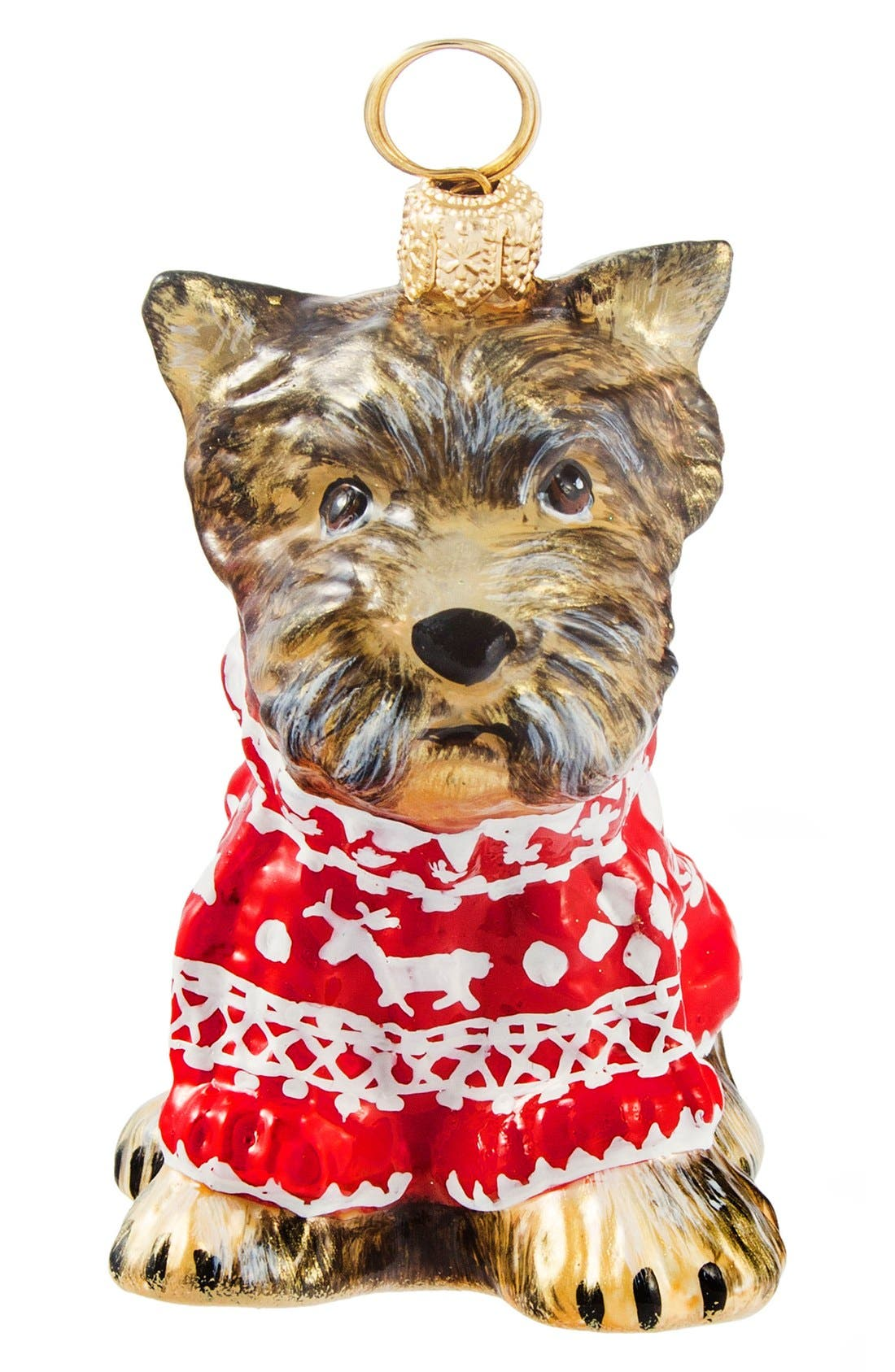 'Dog in Nordic Sweater' Ornament,                         Main,                         color, Yorkshire Terrier