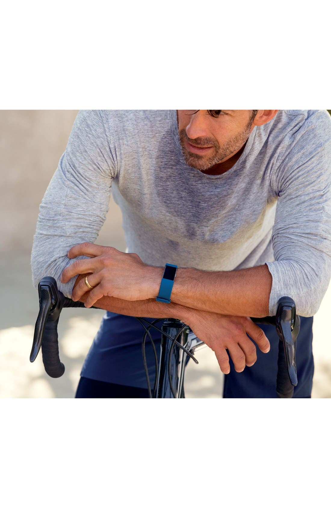 'Charge 2' Wireless Activity & Heart Rate Tracker,                             Alternate thumbnail 5, color,                             Blue