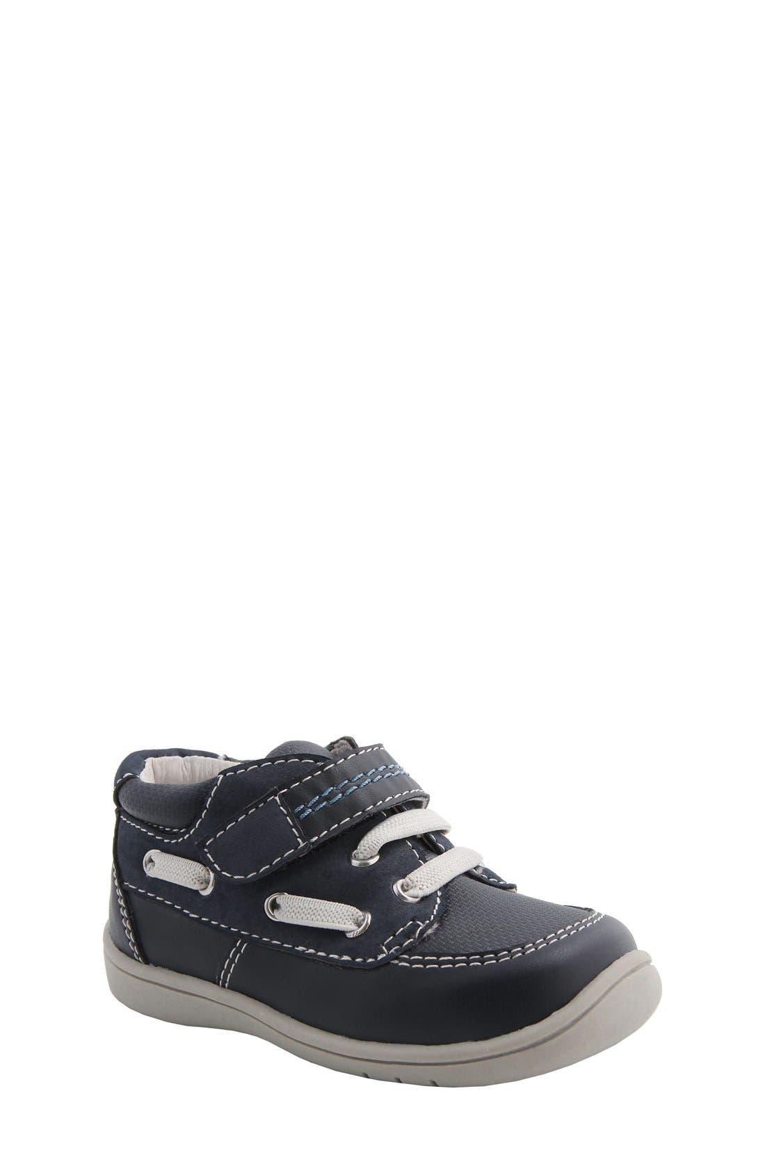 Nina 'Blur' Sneaker,                         Main,                         color, Navy Burnished