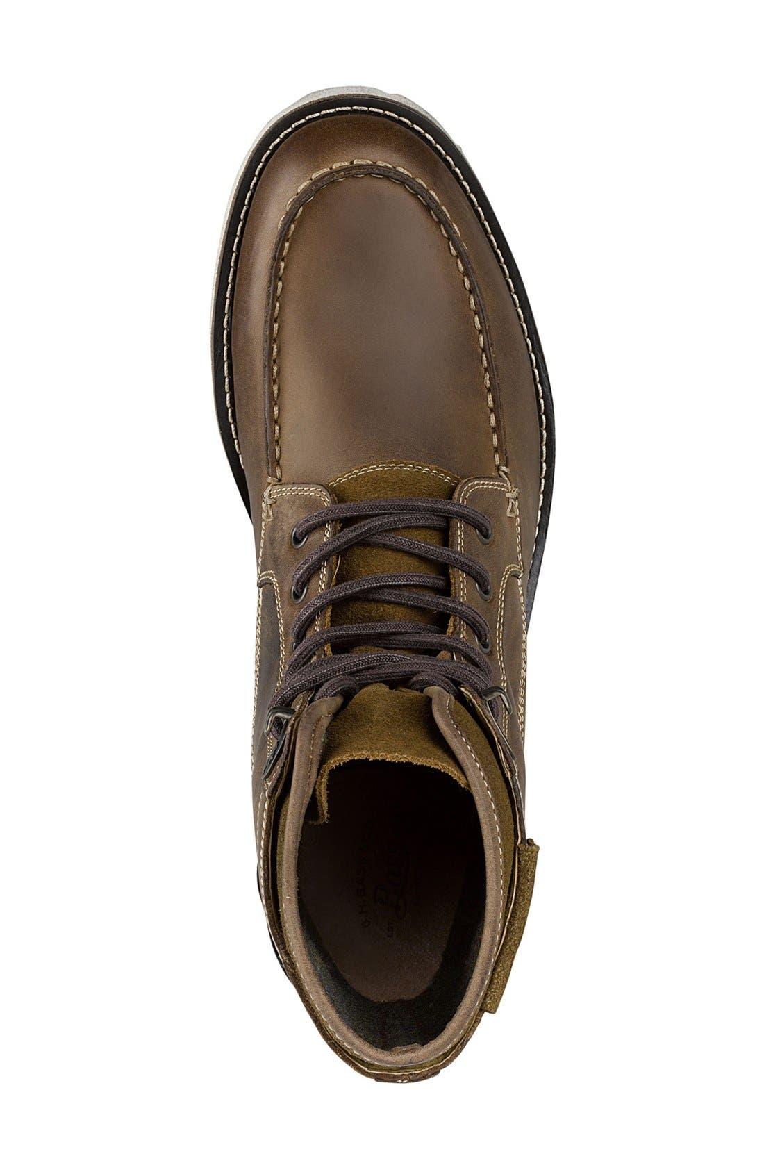 Moc Toe Boot,                             Alternate thumbnail 3, color,                             Dark Tan