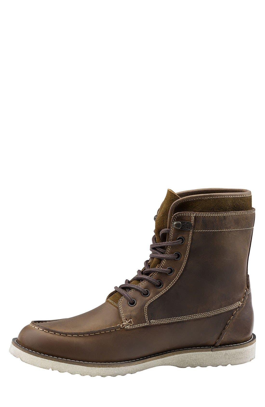 Moc Toe Boot,                             Alternate thumbnail 2, color,                             Dark Tan