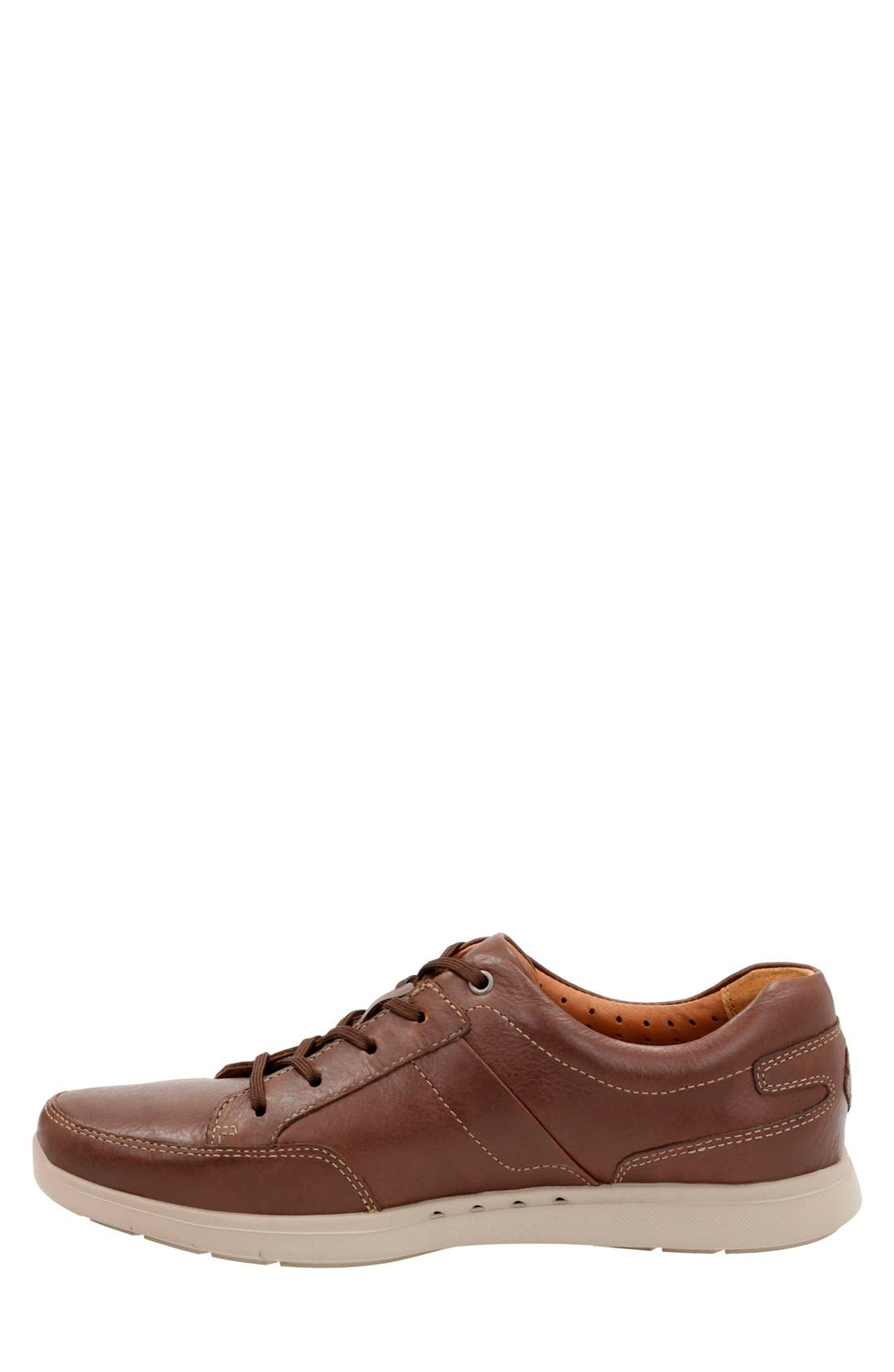 'Unstructured - Lomac' Leather Sneaker,                             Alternate thumbnail 2, color,                             Tan