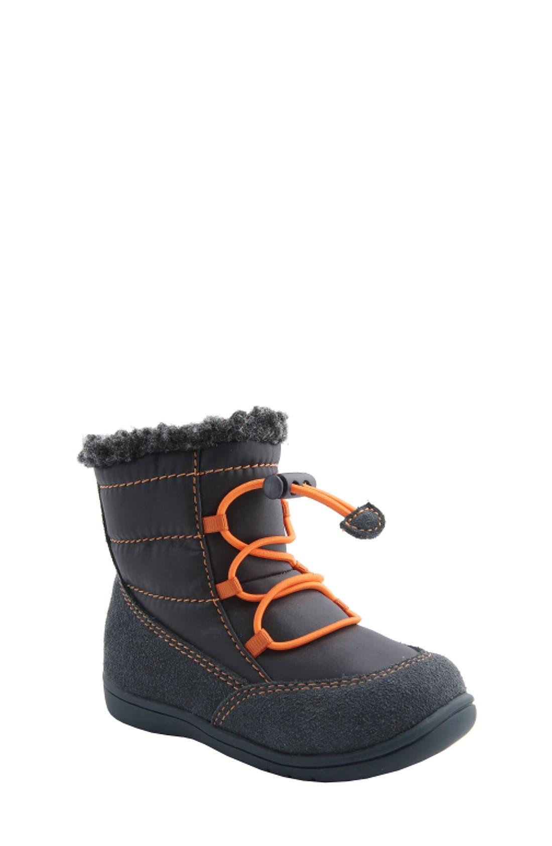 Nina 'Yolie' Lace-Up Boot (Baby & Walker)