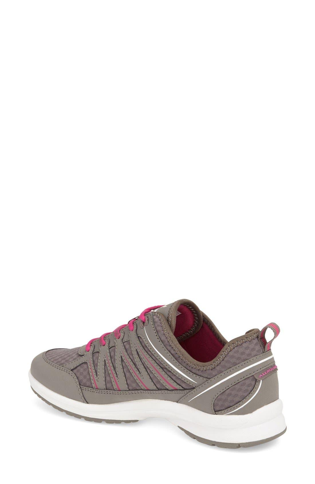 'Darina' Sneaker,                             Alternate thumbnail 4, color,                             Grigio Nubuck Leather