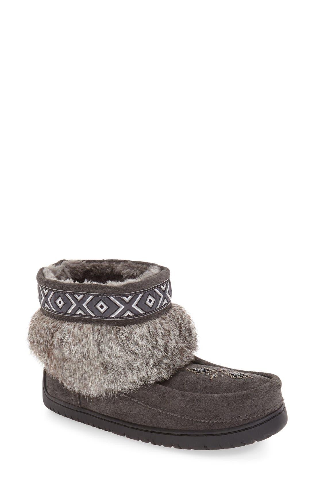 Main Image - Manitobah Mukluks 'Keewatin' Genuine Shearling and Rabbit Fur Boot (Women)