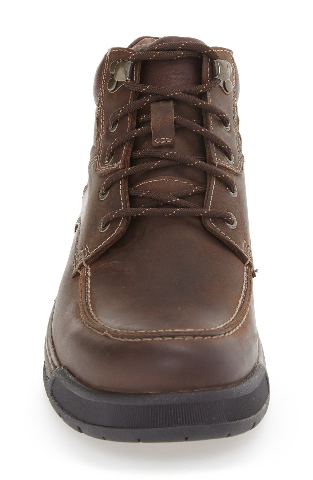 Waterproof Moc Toe Boot,                             Alternate thumbnail 3, color,                             Tan