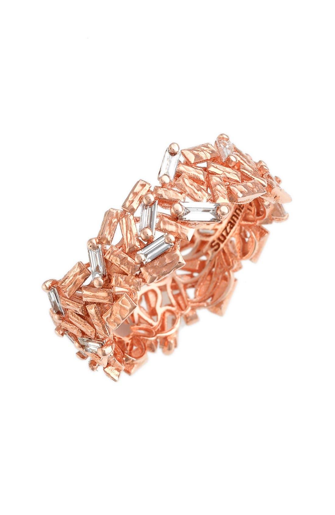 'Firework' Baguette Diamond Eternity Ring,                         Main,                         color, Rose Gold