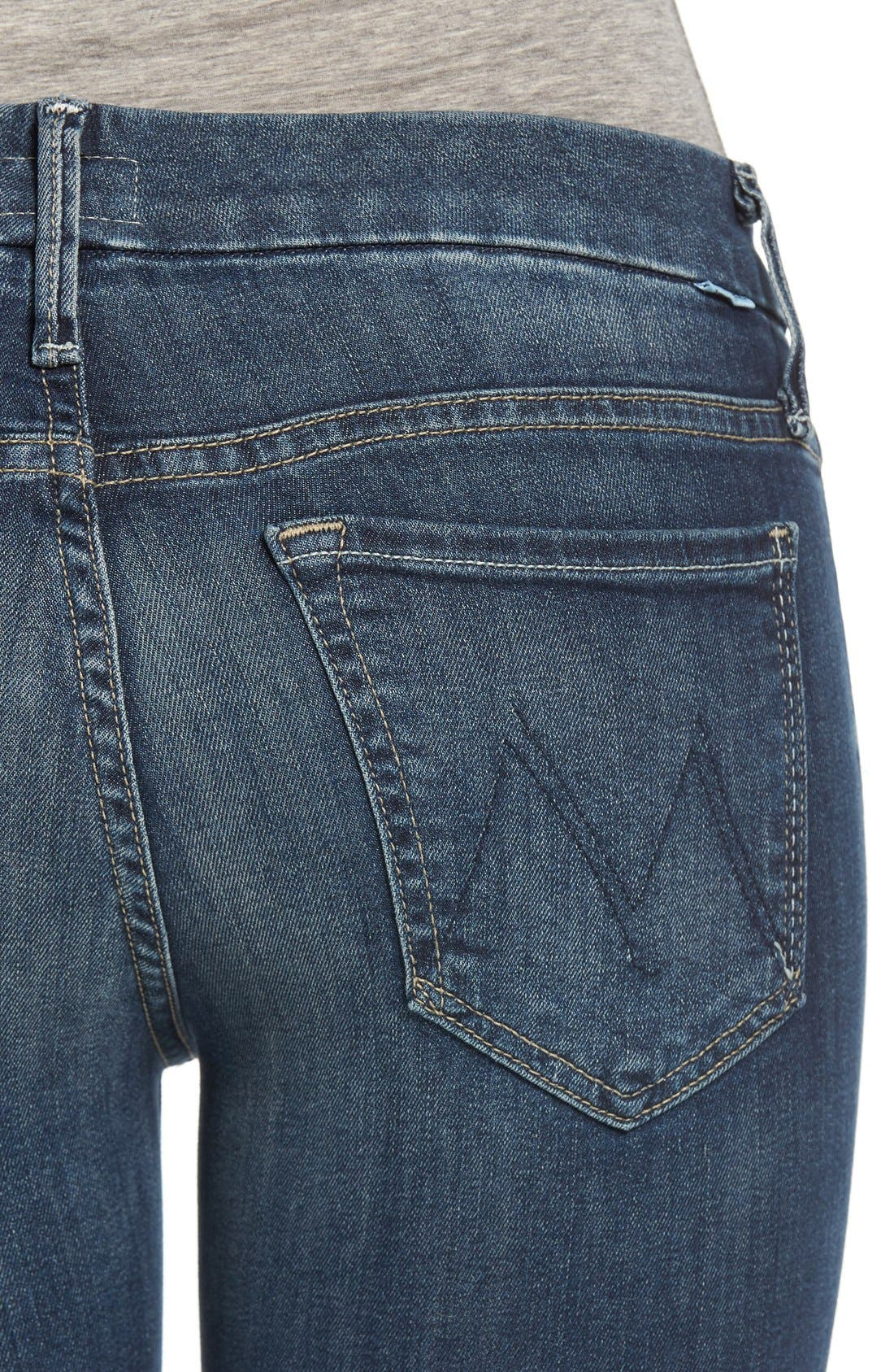 Alternate Image 4  - MOTHER 'The Looker' Crop Skinny Jeans (Here Kitty Kitty)