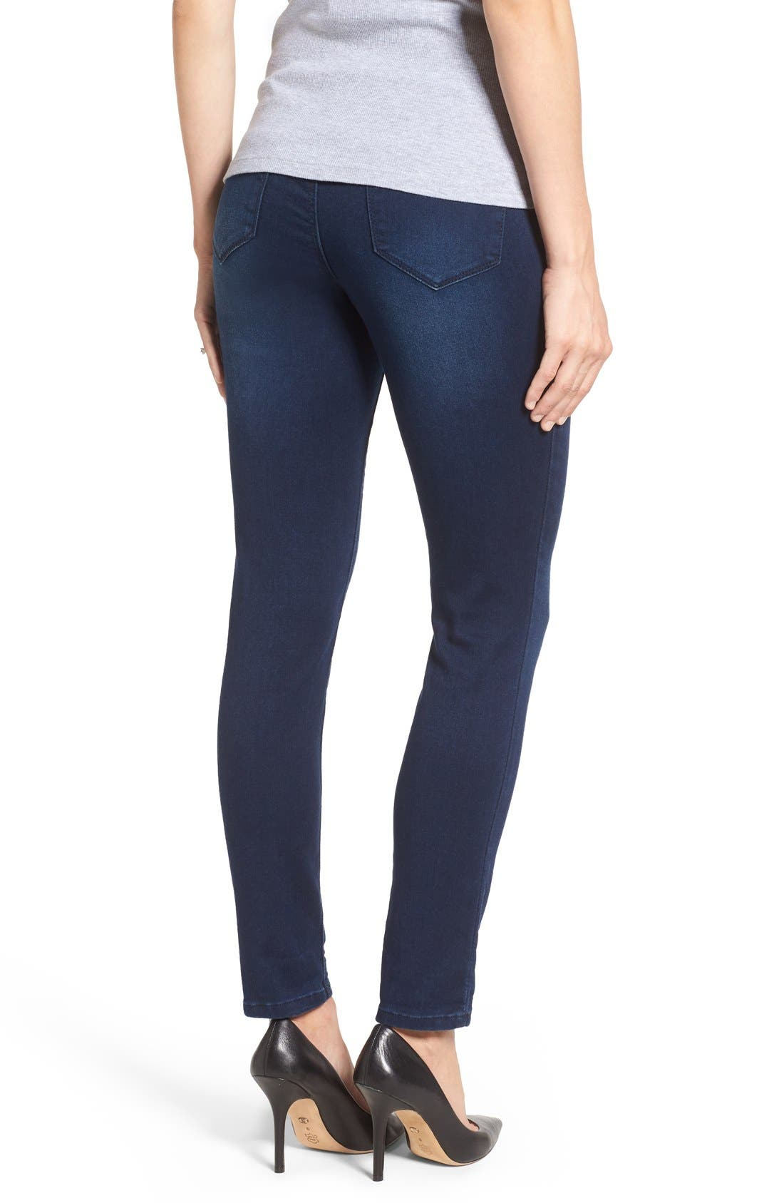 'Ankle Biter' Over the Bump Rolled Cuff Maternity Skinny Jeans,                             Alternate thumbnail 2, color,                             Lennox