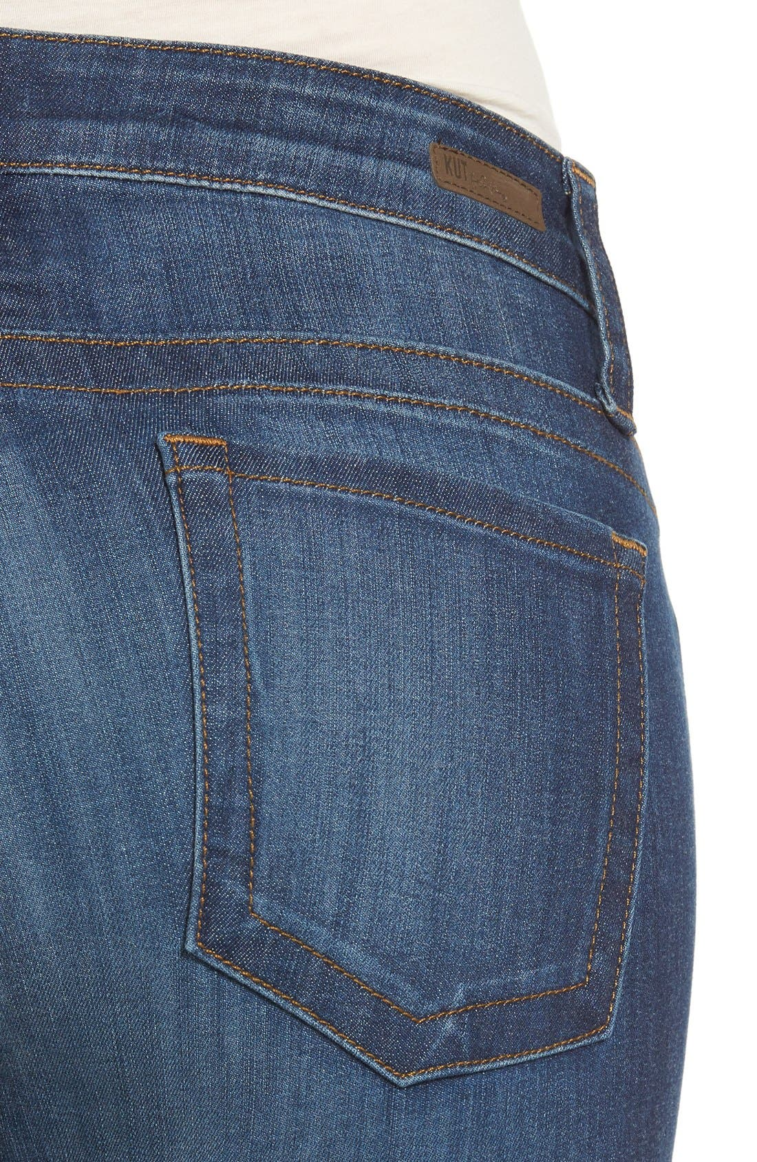 Alternate Image 4  - KUT from the Kloth 'Stevie' Stretch Straight Leg Jeans (Admiration)