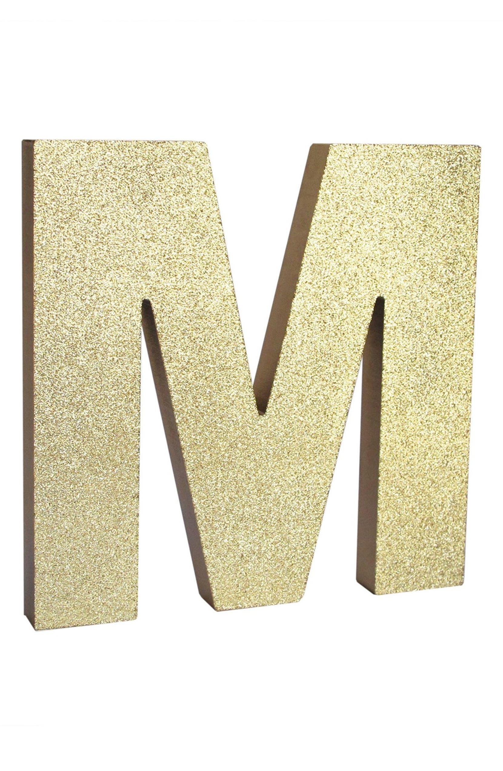 American Atelier Glitter Monogram Letter Decoration   Nordstrom