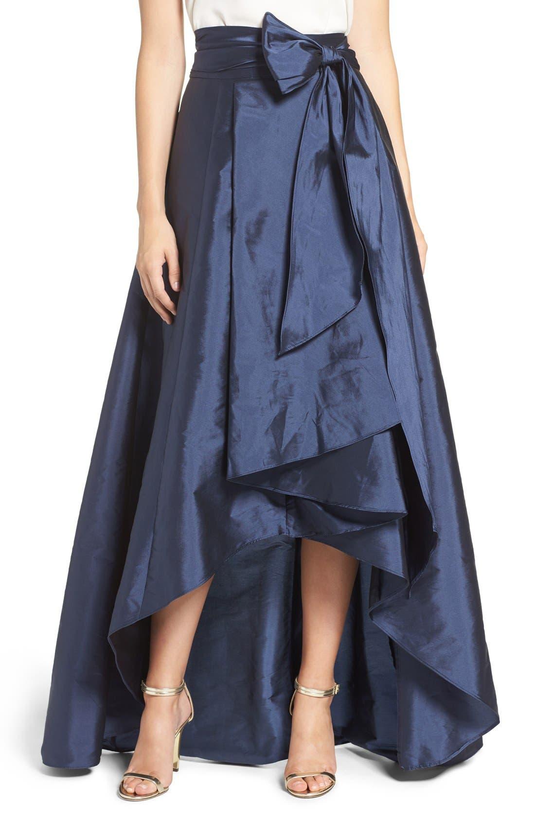 Alternate Image 1 Selected - Adrianna Papell High/Low Taffeta Ball Skirt