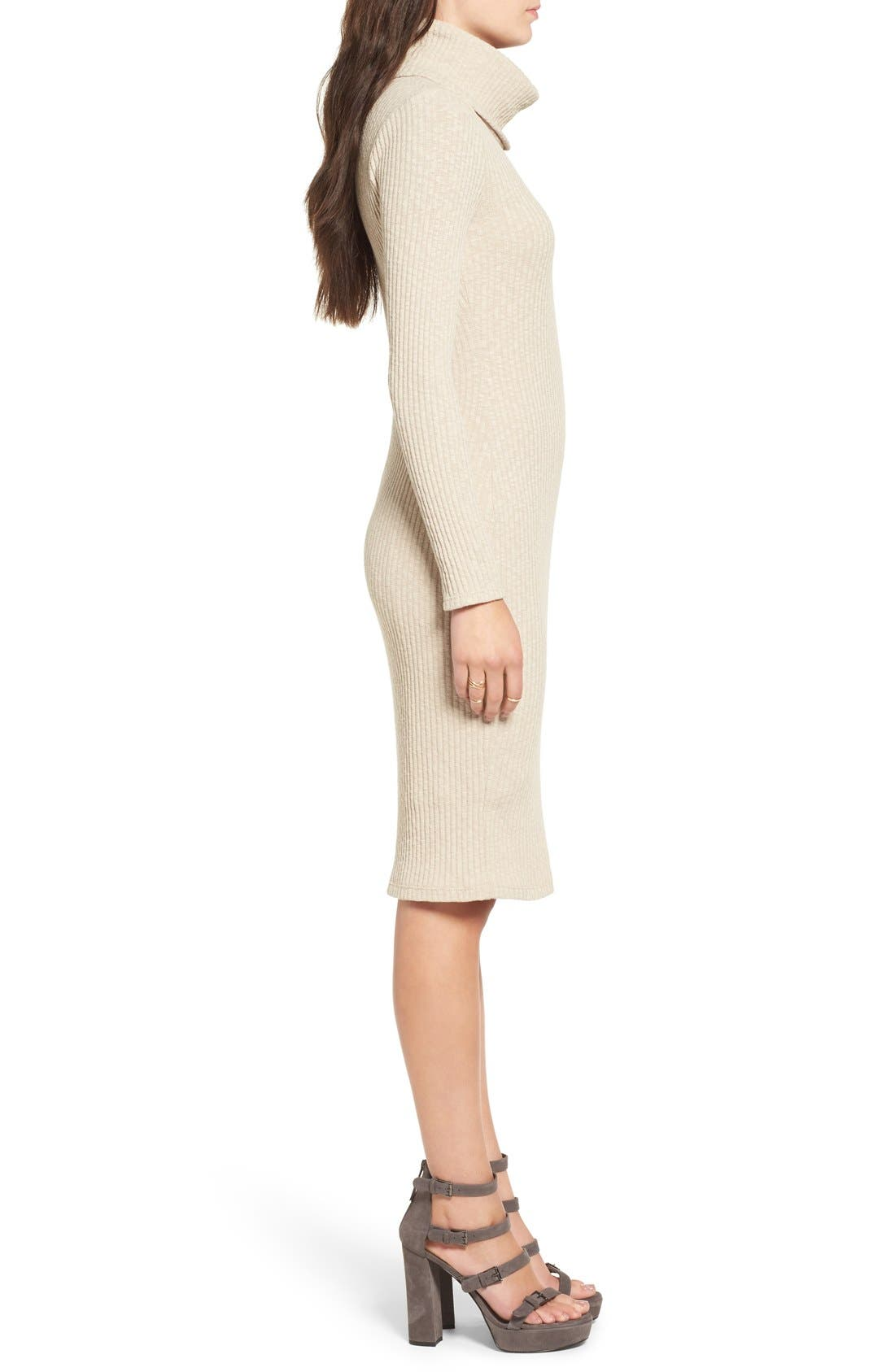 Alternate Image 3  - Lush Turtleneck Body-Con Sweater Dress