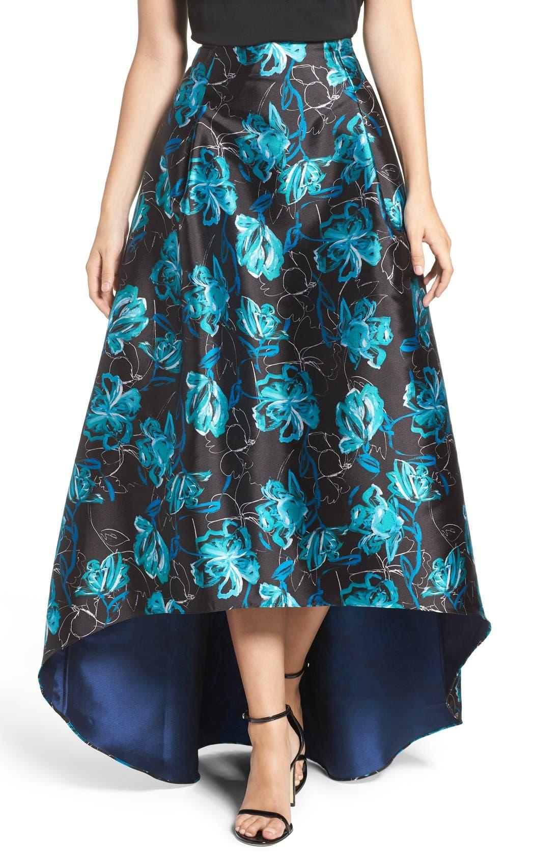 Alternate Image 4  - Sachin & Babi Noir 'Avalon' High/Low Jacquard Ball Skirt