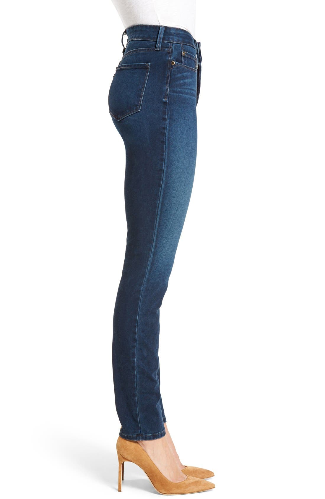 Alina Colored Stretch Skinny Jeans,                             Alternate thumbnail 3, color,                             Montrouge