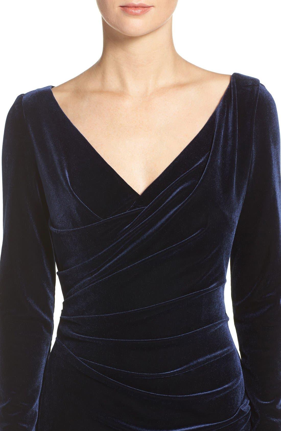 Alternate Image 4  - Vince Camuto Velvet Gown (Regular & Petite)