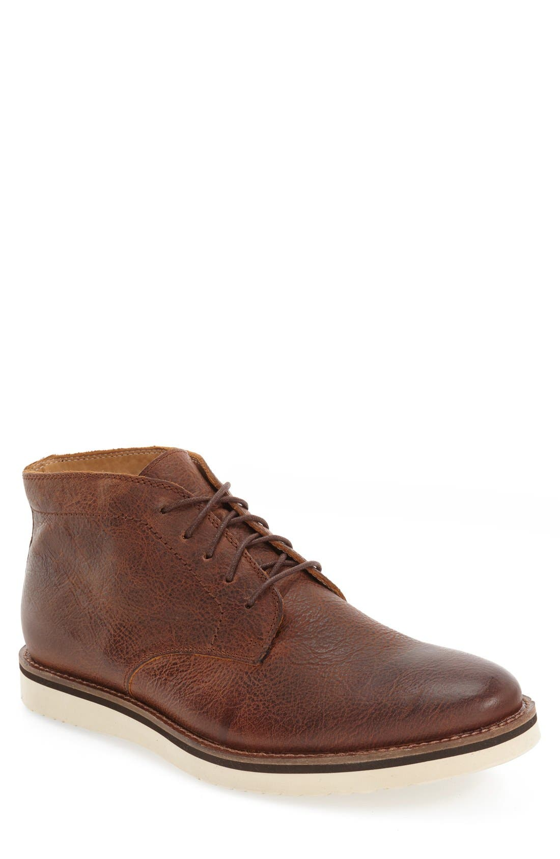 'Farley' Chukka Boot,                             Main thumbnail 1, color,                             Caramel Leather
