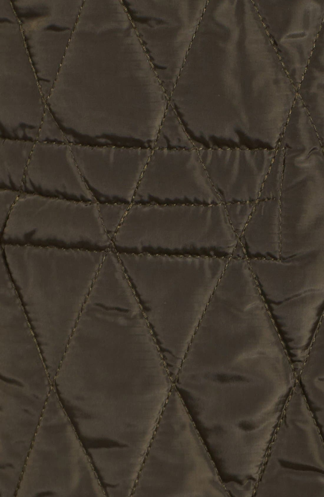 Quilted Jacket,                             Alternate thumbnail 5, color,                             Dark Moss