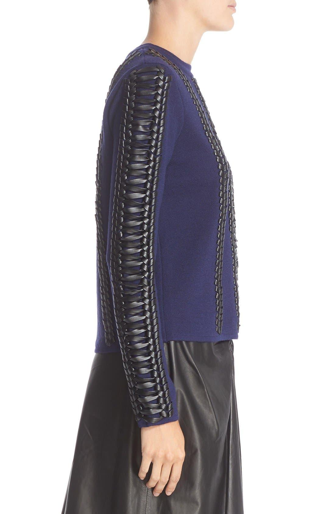 Alternate Image 5  - Altuzarra Deals Lace Detail Wool Sweater