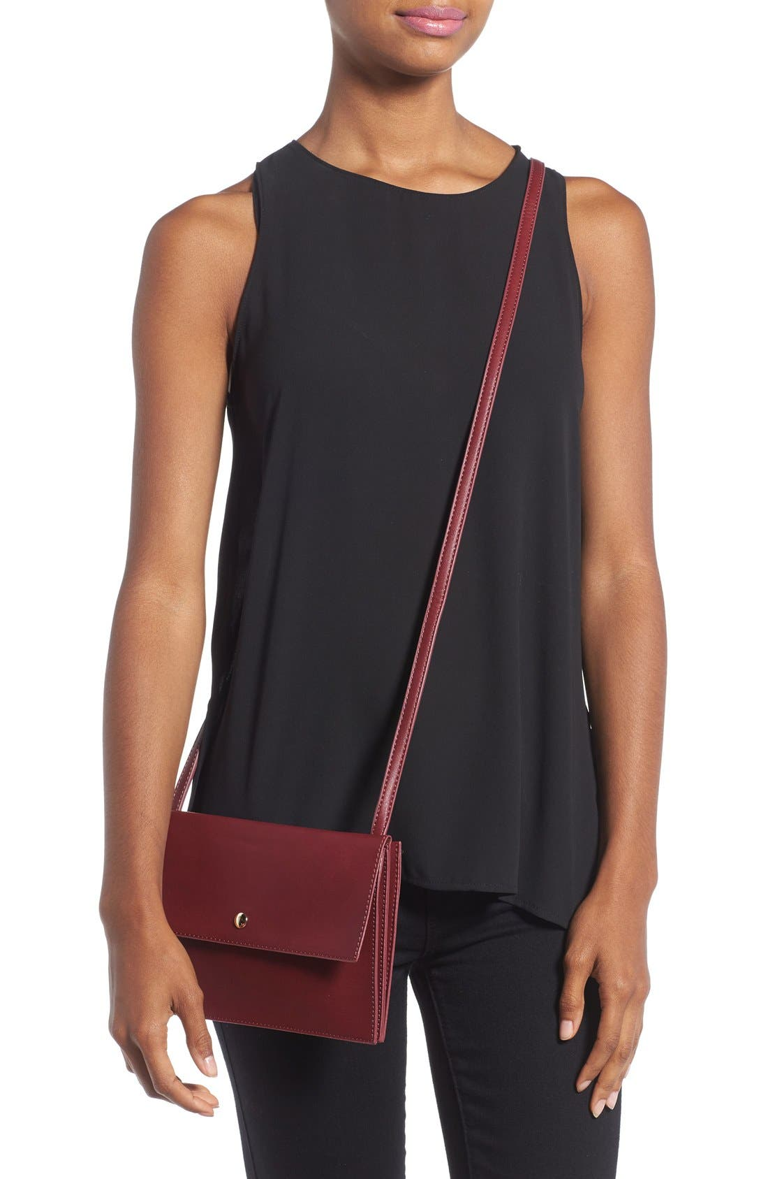 Alternate Image 2  - Sole Society 'Vanessa' Faux Leather Crossbody Bag
