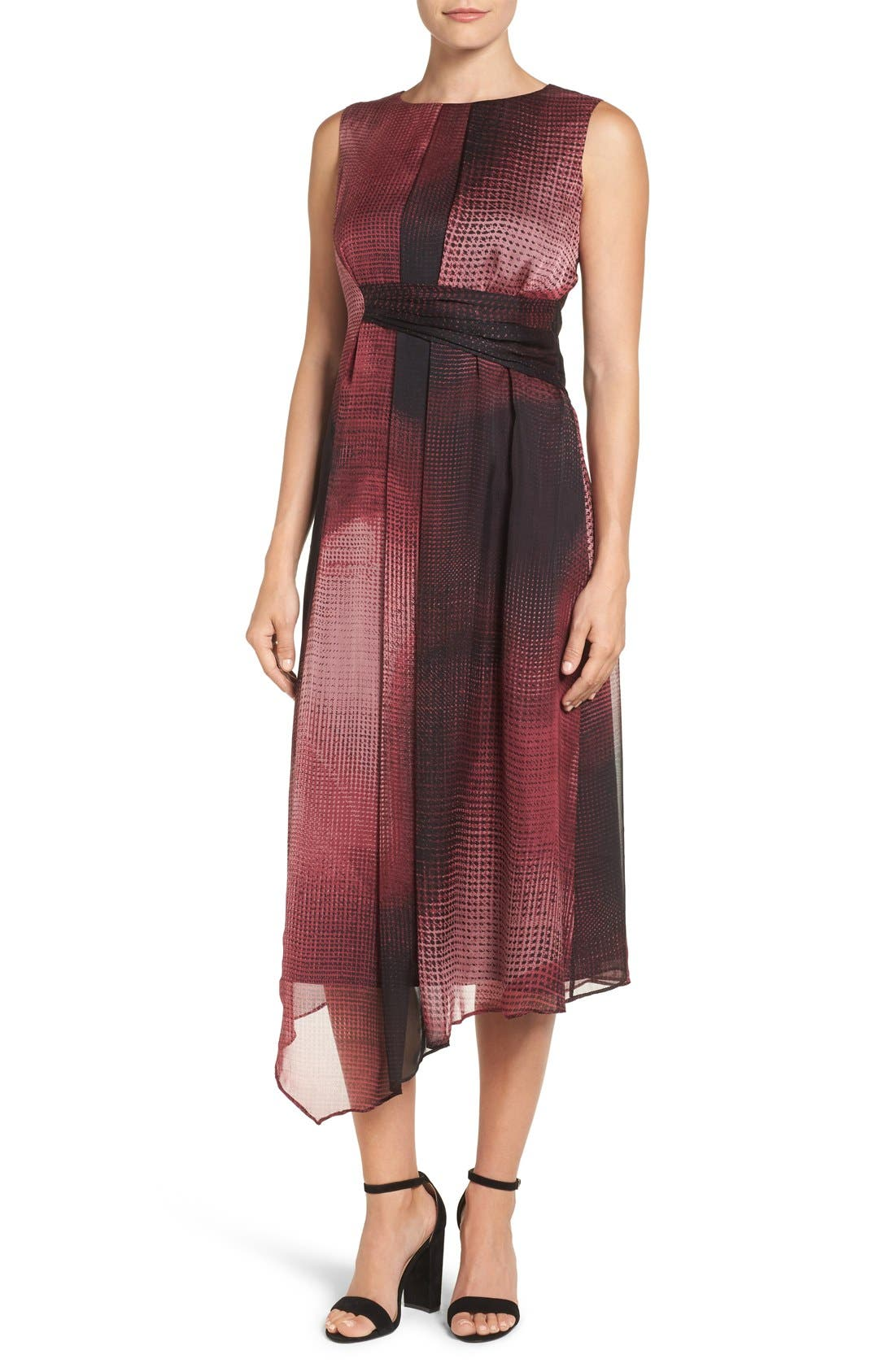 Main Image - NIC+ZOE 'Digital Age' Print Silk Midi Dress