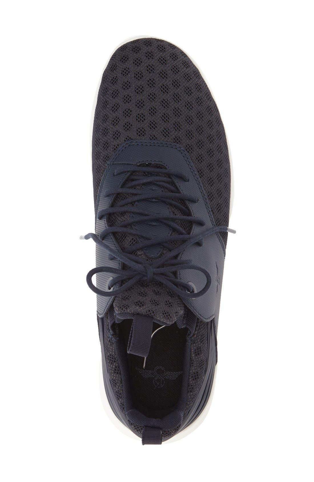 Deross Sneaker,                             Alternate thumbnail 4, color,                             Navy Leather