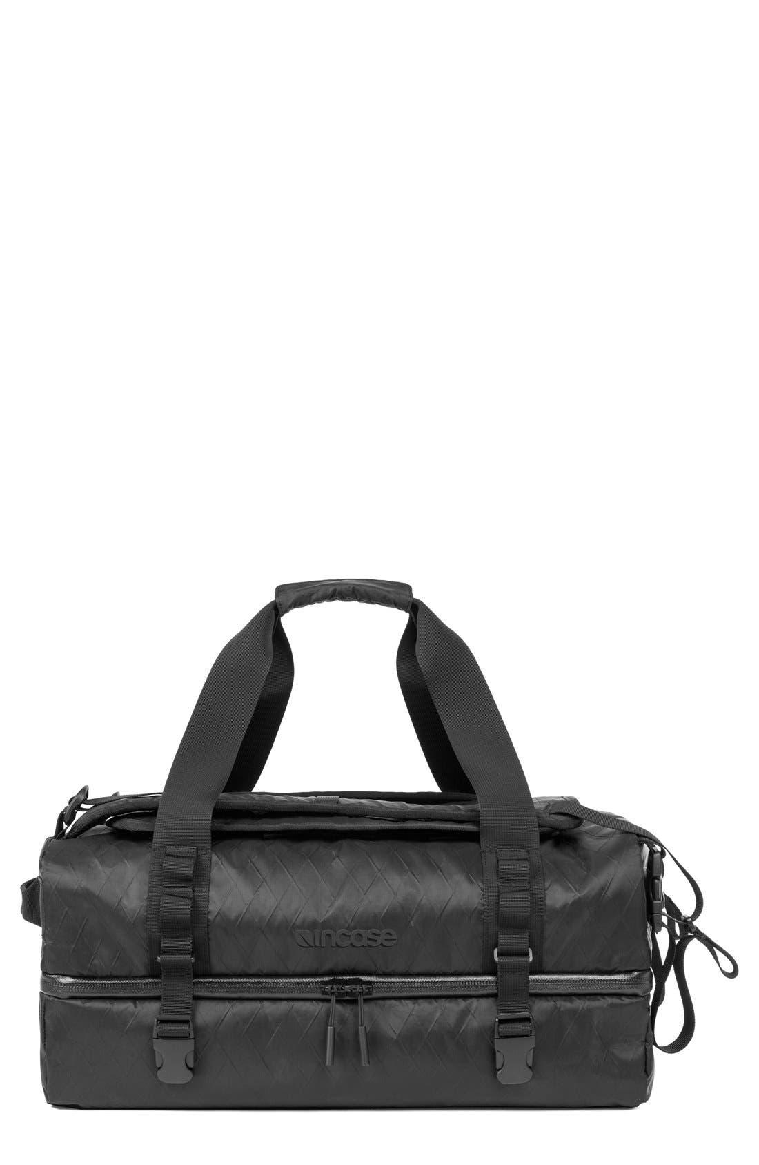 TRACTO Diamond Wire Split Travel Bag,                             Main thumbnail 1, color,                             Black