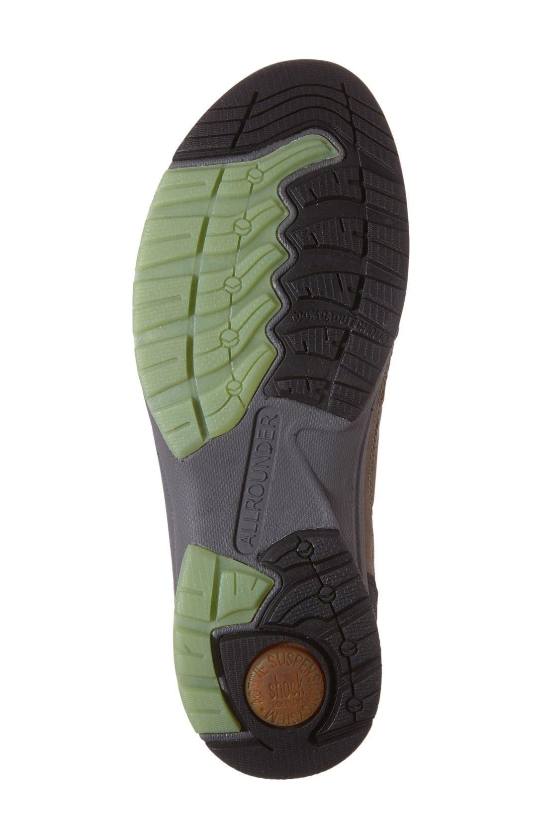 'Dascha Tex' Waterproof Sneaker,                             Alternate thumbnail 4, color,                             Black/ Fog Nubuck Leather