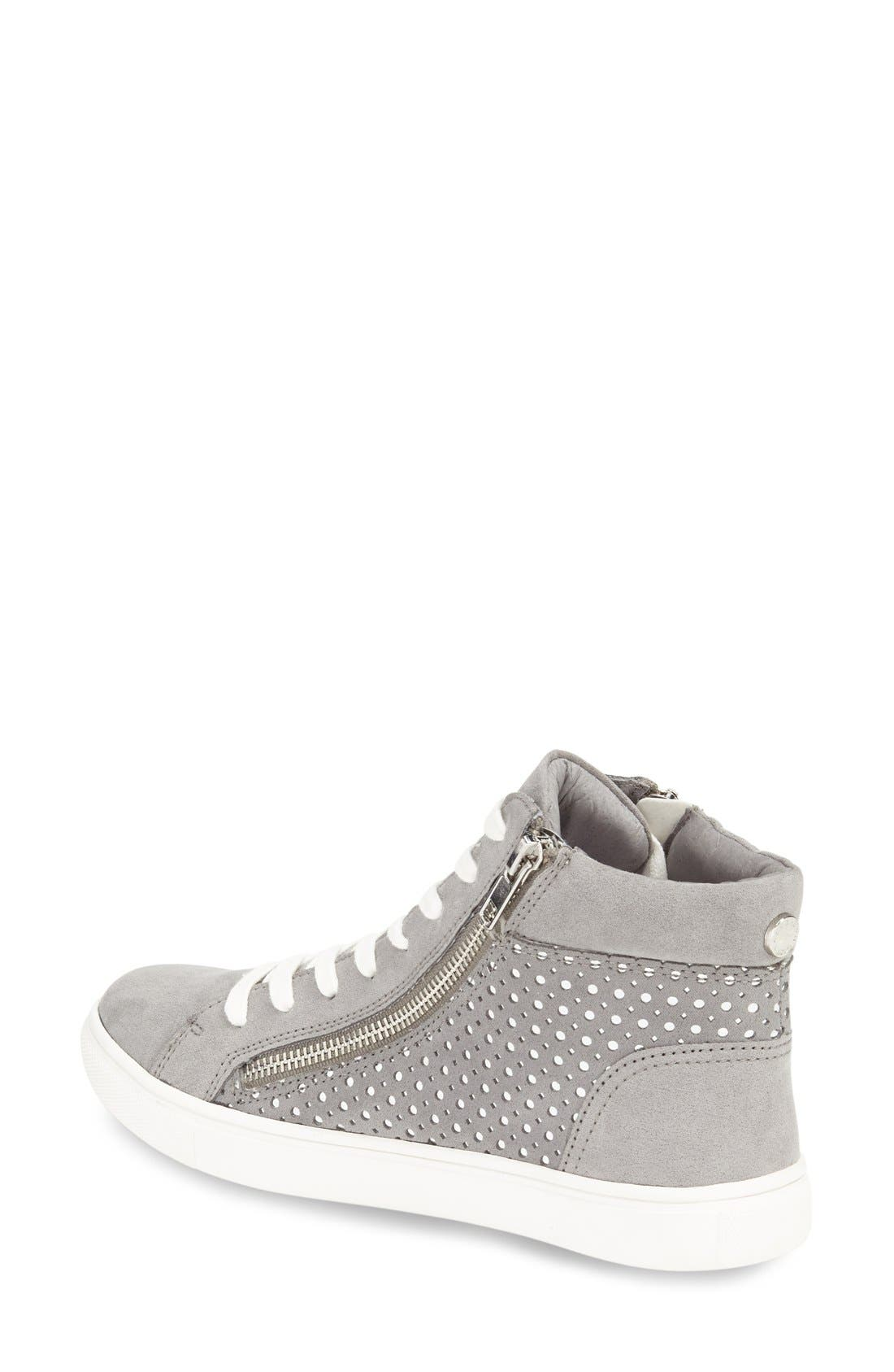 Alternate Image 2  - Steve Madden 'Elyka' Laser Cut High Top Sneaker (Women)