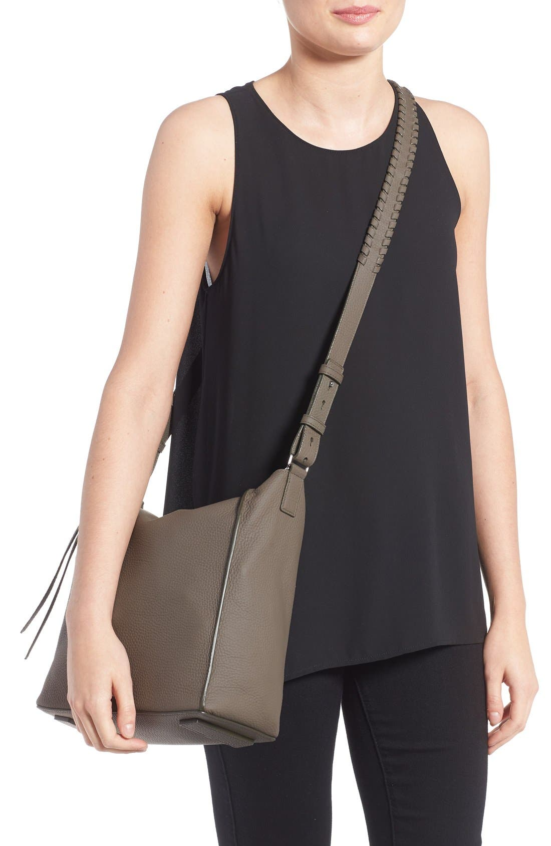 Alternate Image 2  - ALLSAINTS 'Kita' Leather Shoulder/Crossbody Bag