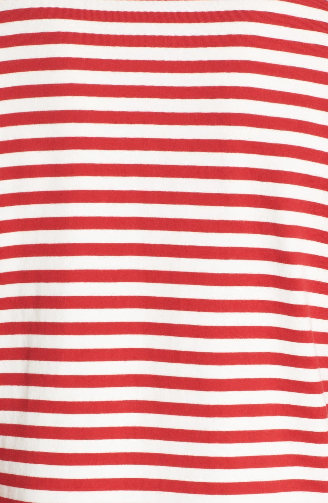 Comme des Garçons PLAY Stripe Long Sleeve T-Shirt,                             Alternate thumbnail 5, color,                             Red/ White