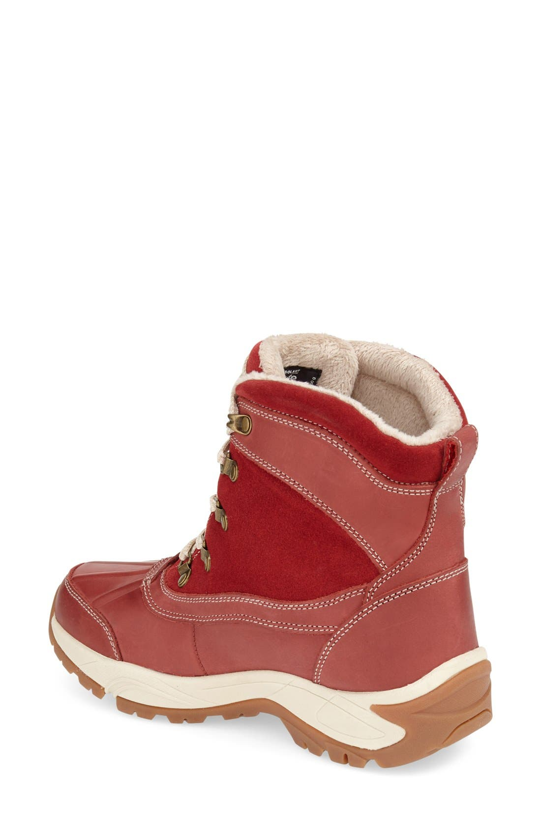 'Renee' Waterproof Insulated Winter Boot,                             Alternate thumbnail 2, color,                             Red Leather